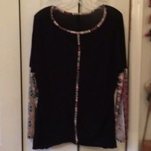 Tops - Swing top with fun multicolored sleeves!